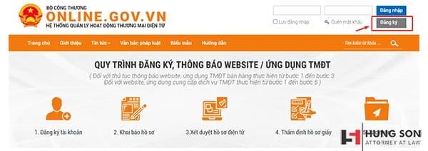 click chọn đăng ký