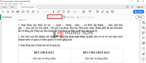 khoang vùng cần ký chữ ký số trên file pdf