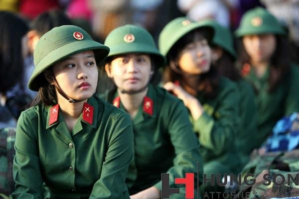 Quy định về tiêu chuẩn nữ đi nghĩa vụ quân sự hiện nay