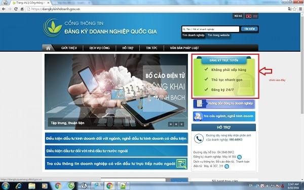 Đăng ký kinh doanh trực tuyến tuân thủ theo quy định pháp luật