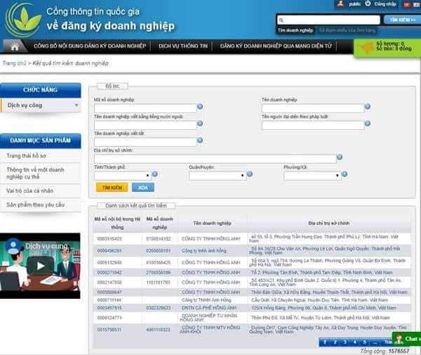 Điền mã số thuế/mã số doanh nghiệp theo hướng dẫn