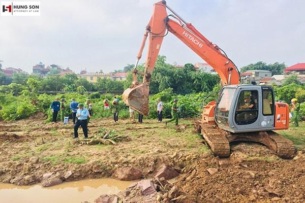 quy trình cưỡng chế thu hồi đất