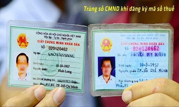 Trúng số chứng minh thư nhân dân khi đăng ký mã số thuế
